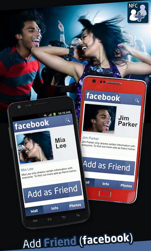 Add Friend (Facebook) app for Android with NFC